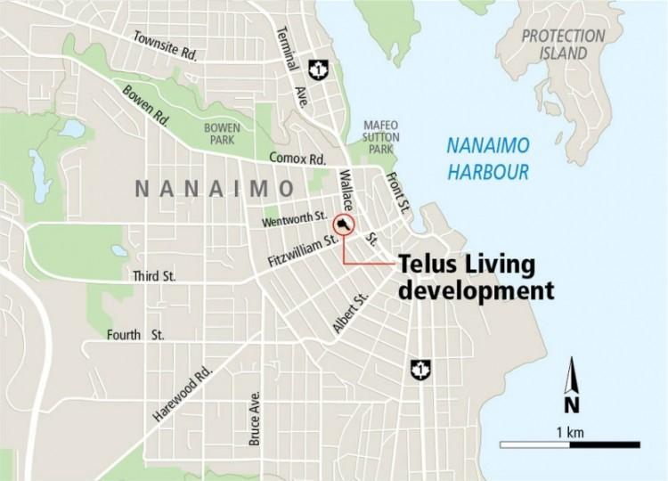 Nanaimo map