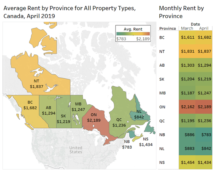 Two-bedroom apartments in Vancouver have highest rent in ...