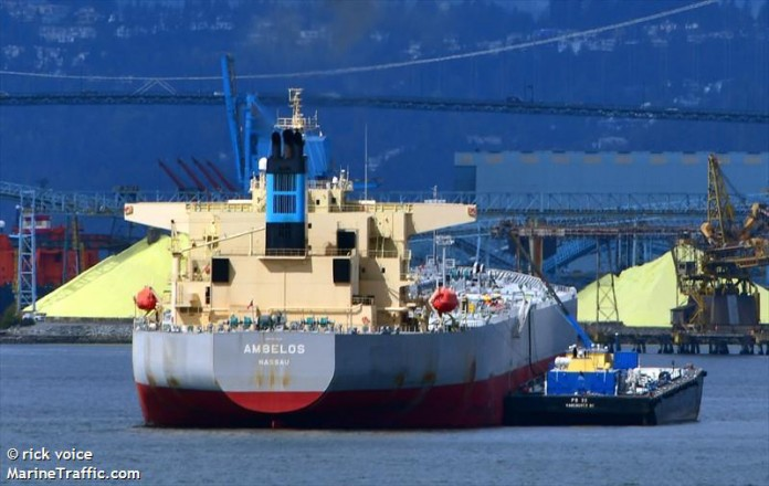Crude exports via Vancouver totalled $1.4 billion last year