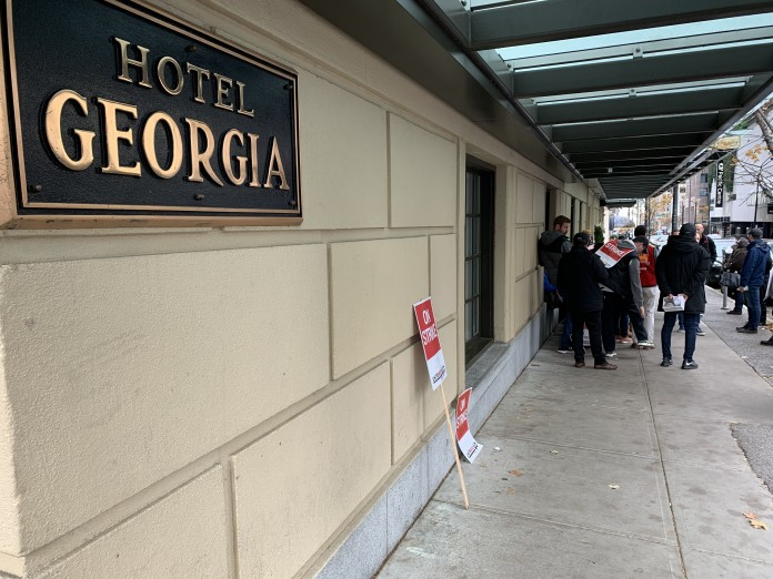 Tentative agreement reached to end Rosewood Hotel Georgia strike