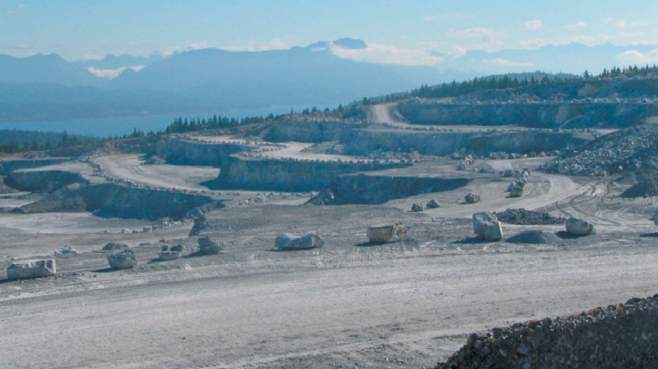 Mining report: Limestone is a lifeblood on Texada Island