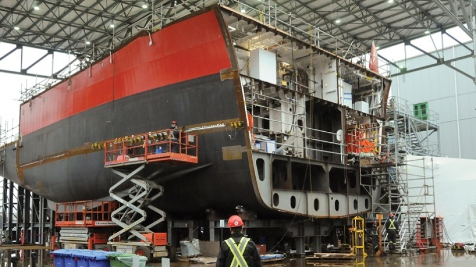 Vancouver Shipyards launches lawsuit against federal vessel