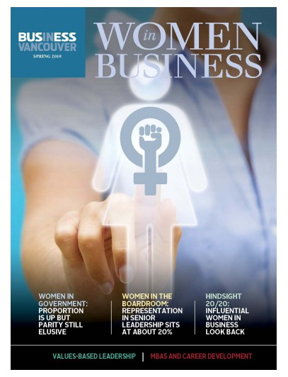 Women in Business Spring 2019 magazine cover